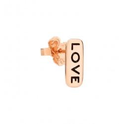 PENDIENTE INDIVIDUAL DODO LOVE ORO ROSA 9 Kt